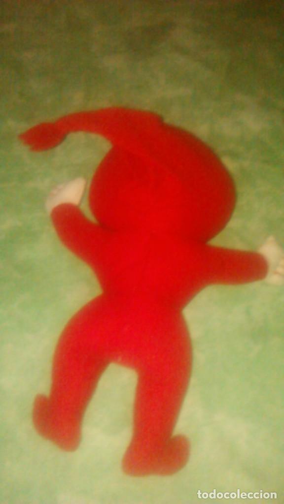 Juguetes Antiguos: muñeco peluche rojo,mascota,lo reconozco pero no sé decir quien es.Ayuda por favor, - Foto 3 - 84993044