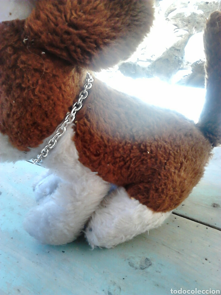 Juguetes Antiguos: Viejo peluche,de un perro,de 25 cm alto,aproximado, ver fotos - Foto 3 - 86993762