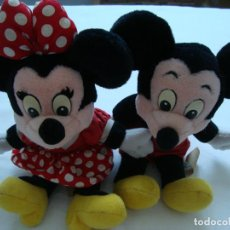Juguetes Antiguos: MICKEY MOUSE Y MINNI MOUSE PELUCHE DE DISNEY. Lote 91927410
