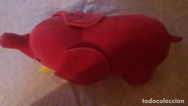 Juguetes Antiguos: Manhattan Toy elefante Africano,terciopelo rojo, 1986, muy raro de ver. - Foto 4 - 104397599