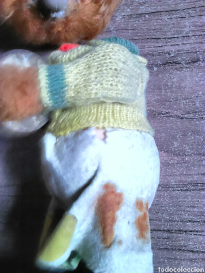 Juguetes Antiguos: Viejo muñeco,oso,con mecanismo a cuerda,made in spain - Foto 5 - 113936350