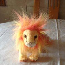 Juguetes Antiguos: LEÓN DE PELUCHE BUSHY LION BEANIE BABIES COLLECTION WITH TAG,2000. Lote 116172267