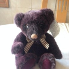 Juguetes Antiguos: OSO DE PELUCHE MORADO. RUSS BEARS FROM THE PAST. Lote 116172575