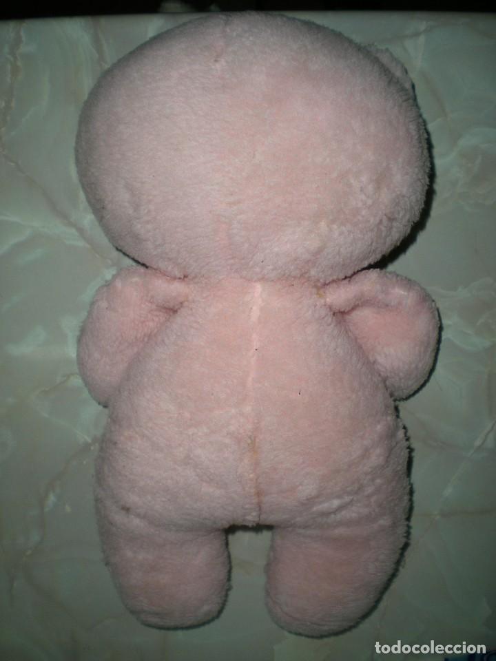 Juguetes Antiguos: raro oso de peluche años 60/70 angeloso o amoroso rosa mide 42 cm carita de goma espuma - Foto 3 - 187639857