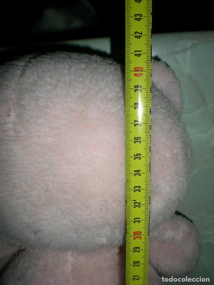 Juguetes Antiguos: raro oso de peluche años 60/70 angeloso o amoroso rosa mide 42 cm carita de goma espuma - Foto 4 - 187639857