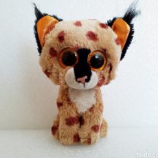 Juguetes Antiguos: PELUCHE LINCE TY O SIMILAR (15CM). Lote 125424726