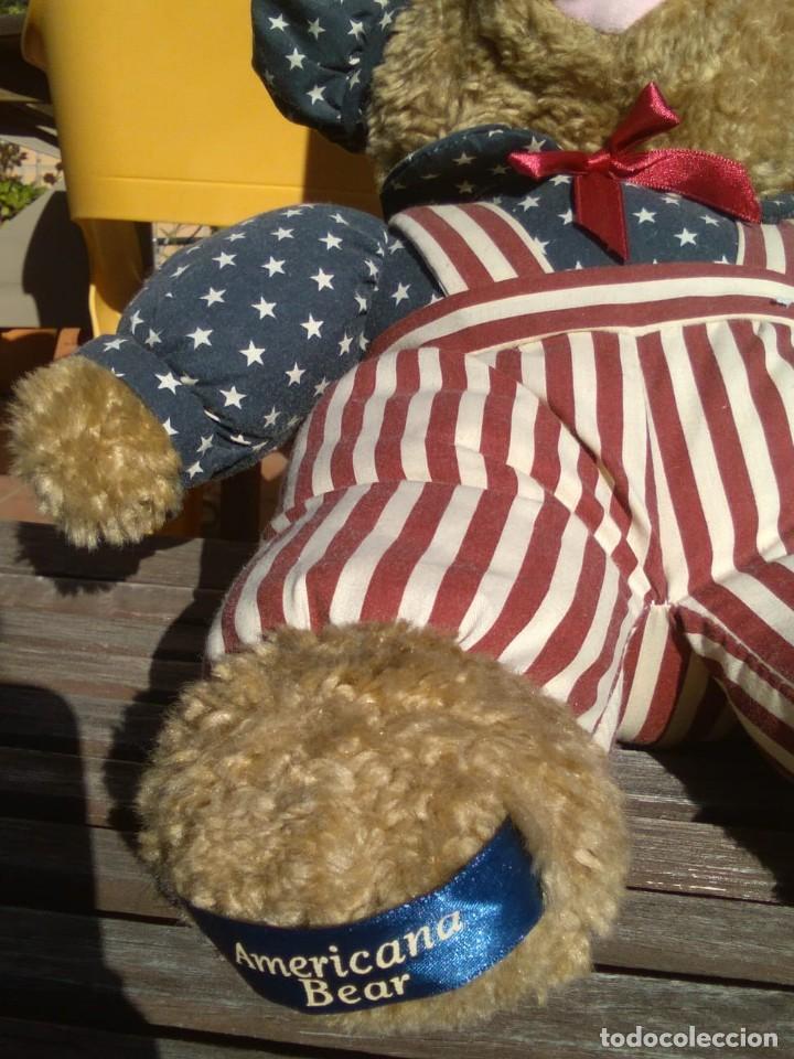 Juguetes Antiguos: OSO TEDDY AMERICANO PELUCHE CON TRAJE BANDERA USA - Foto 3 - 129345927