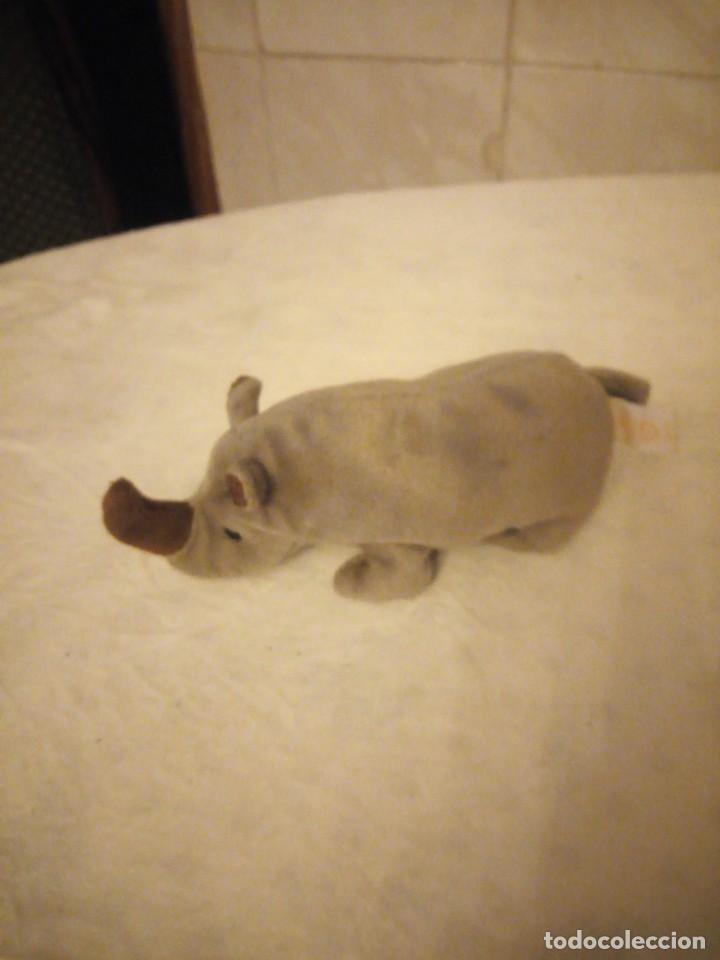Juguetes Antiguos: Precioso rinoceronte de peluche ty. - Foto 3 - 153862070