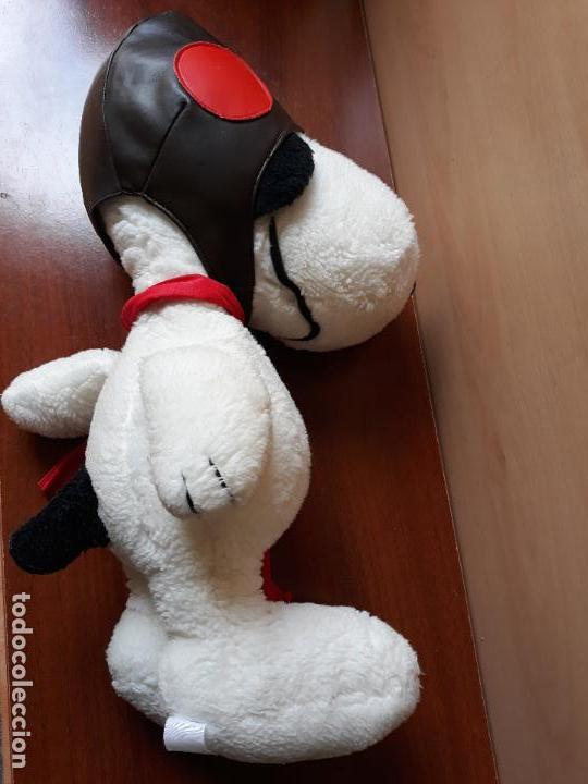 Juguetes Antiguos: Peluche snoopy con gorro de aviador y bufanda- 40 cms - Foto 2 - 154293114