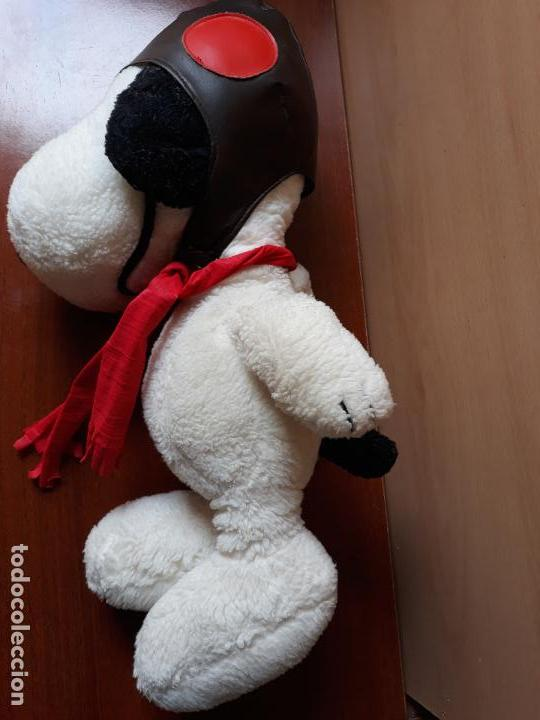 Juguetes Antiguos: Peluche snoopy con gorro de aviador y bufanda- 40 cms - Foto 3 - 154293114