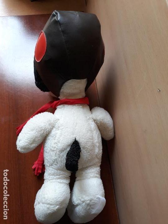 Juguetes Antiguos: Peluche snoopy con gorro de aviador y bufanda- 40 cms - Foto 4 - 154293114