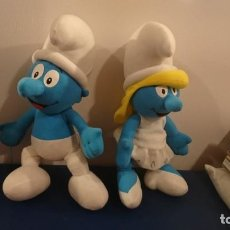 Juguetes Antiguos: PELUCHES PITUFOS LOTE PITUFUNA Y PITUFO SMURFS. Lote 161008126