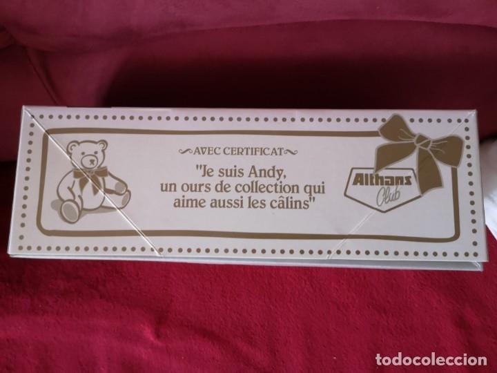 Juguetes Antiguos: Oso de peluche de colección ALTHANS CLUB, ANDY. Con certificado de autenticidad, nuevo en caja. - Foto 3 - 173571498