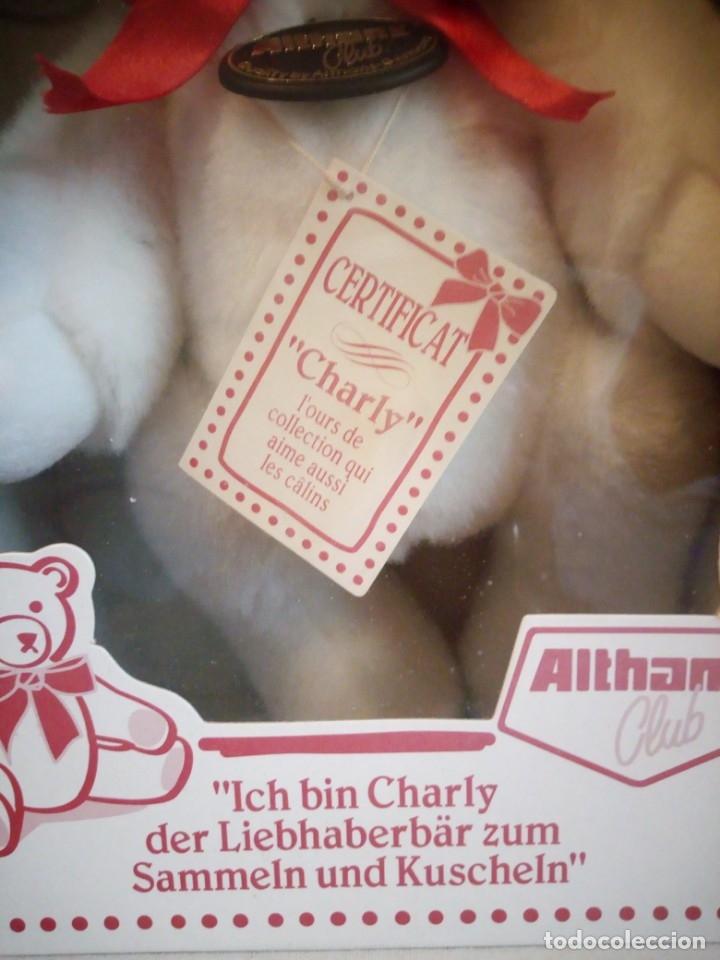 Juguetes Antiguos: Oso de peluche de colección, charly, althan club en caja original y con certificado de autenticidad - Foto 3 - 173574520