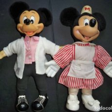 Juguetes Antiguos: MICKEY Y MINNIE MOUSE APPLAUSE. Lote 127248251