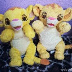 Juguetes Antiguos: LOTE PELUCHES DISNEY BABIES NALA Y SIMBA. Lote 181201541