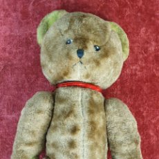 Juguetes Antiguos: OSO DE PELUCHE TEDDY BEAR. OJOS DE CRISTAL PINTADO A MANO. CIRCA 1930.. Lote 183901877