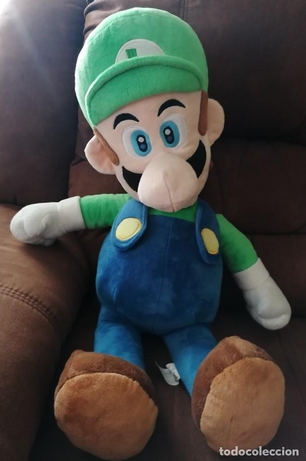 Juguetes Antiguos: Peluche Luigi, 65cm Calidad super soft - Super Mario Bros - Foto 2 - 190817945