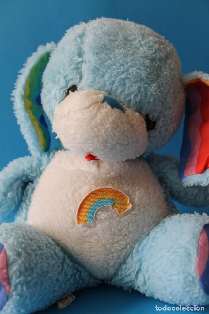 Juguetes Antiguos: Peluche Perrito Azul Arcoiris - Similar Osos Angelosos - Vir - Años 80 - Foto 5 - 195344131
