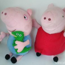 Giocattoli Antichi: PELUCHE PEPPA PIG Y GEORGE. Lote 197738288