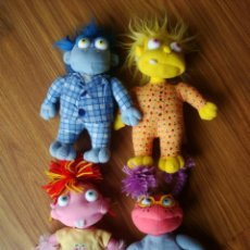 Juguetes Antiguos: LOTE 4 PELUCHES LUNNIS (COLECCIÓN COMPLETA) FAMOSA (25-30 CM). Lote 199904081