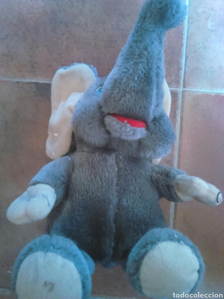 Juguetes Antiguos: Viejo peluche,elefante con pilas,ver fotos - Foto 3 - 201202752
