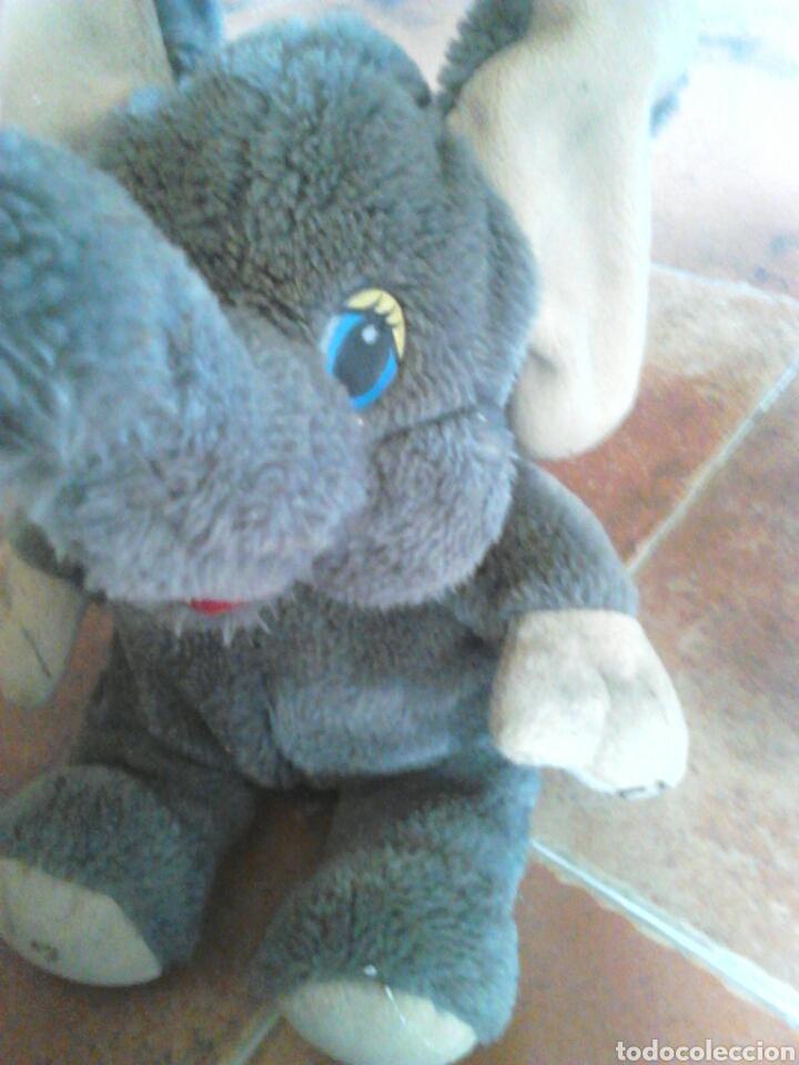 Juguetes Antiguos: Viejo peluche,elefante con pilas,ver fotos - Foto 10 - 201202752