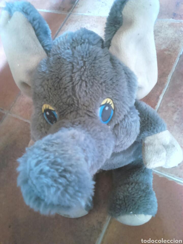 Juguetes Antiguos: Viejo peluche,elefante con pilas,ver fotos - Foto 11 - 201202752