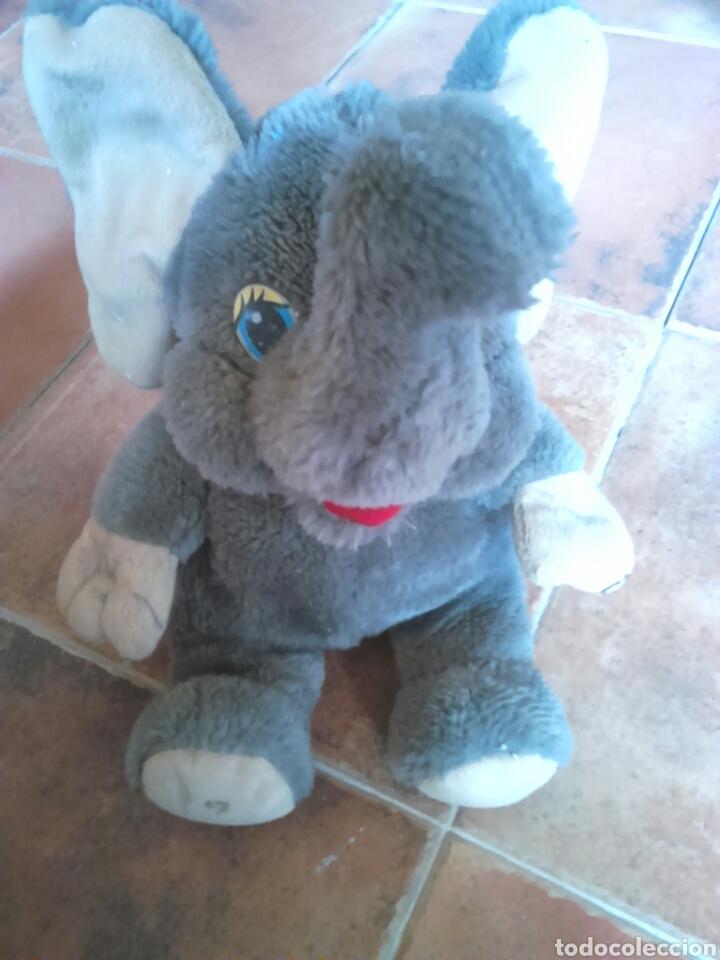 Juguetes Antiguos: Viejo peluche,elefante con pilas,ver fotos - Foto 2 - 201202752