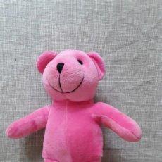 Brinquedos Antigos: OSO DE PELUCHE DE COLOR ROSA . Lote 201256053