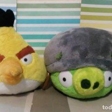 Jouets Anciens: LOTE 2 PELUCHES ANGRY BIRDS ORIGINALES ROVIO. Lote 208176073