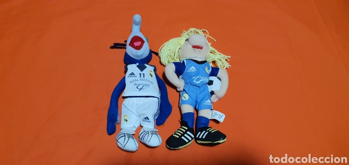 2 MUÑECOS PELUCHES MUPPETS REAL MADRID GONZO Y PEGGY (Juguetes - Ositos & otros Peluches)