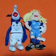 Juguetes Antiguos: 2 MUÑECOS PELUCHES MUPPETS REAL MADRID GONZO Y PEGGY. Lote 211910673
