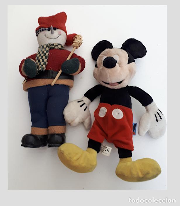 MIKY MOUSSE, Y MUÑECO DE NIEVE, DE TRAPO (Juguetes - Ositos & otros Peluches)