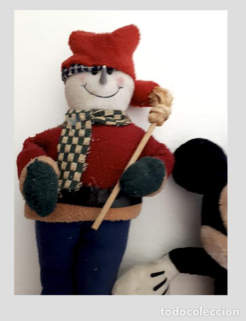 Juguetes Antiguos: MIKY MOUSSE, Y MUÑECO DE NIEVE, DE TRAPO - Foto 3 - 213618635