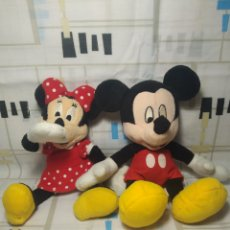 Juguetes Antiguos: MICKEY MOUSE Y MINNI MOUSE PELUCHE DISNEY. Lote 218835737