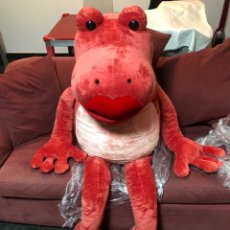 Juguetes Antiguos: NICI RED FROG 200 CM ENORME LUXURY GIANT PLUSH NEW. Lote 224676108