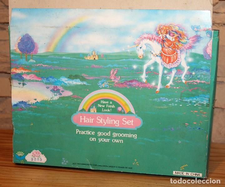 Juguetes Antiguos: HAIR STYLING SET - SET DE PELUQUERIA O TOCADOR - EN SU CAJA ORIGINAL Y NUEVO A ESTRENAR - AÑOS 80 - Foto 4 - 234688650