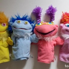 Brinquedos Antigos: LOTE 4 MARIONETAS DE PELUCHE LOS LUNNIS - SIMBA SPAIN -. Lote 235100485