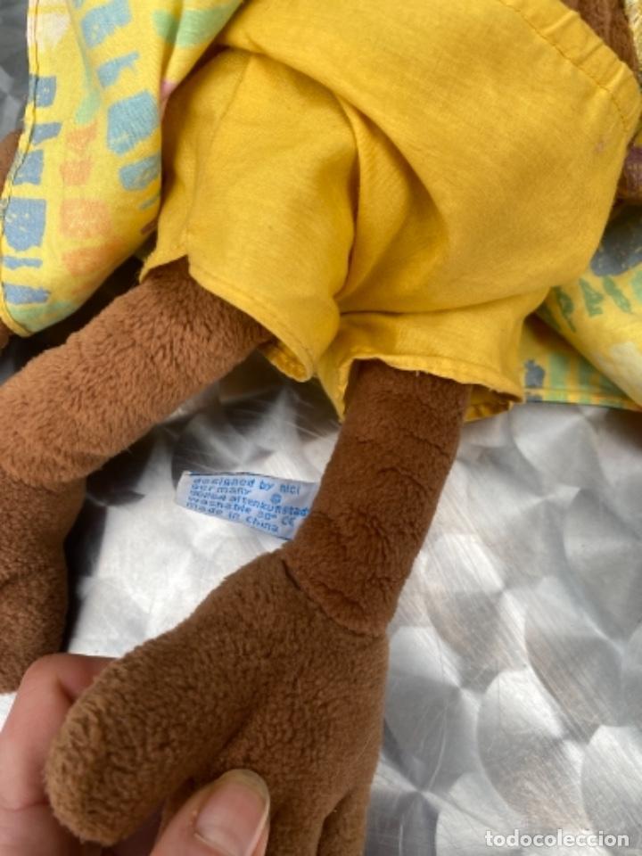 Juguetes Antiguos: Antiguo muñeco mono mona pañuelo en cabeza peluche television muñeco nici 40 cm - Foto 5 - 237834890