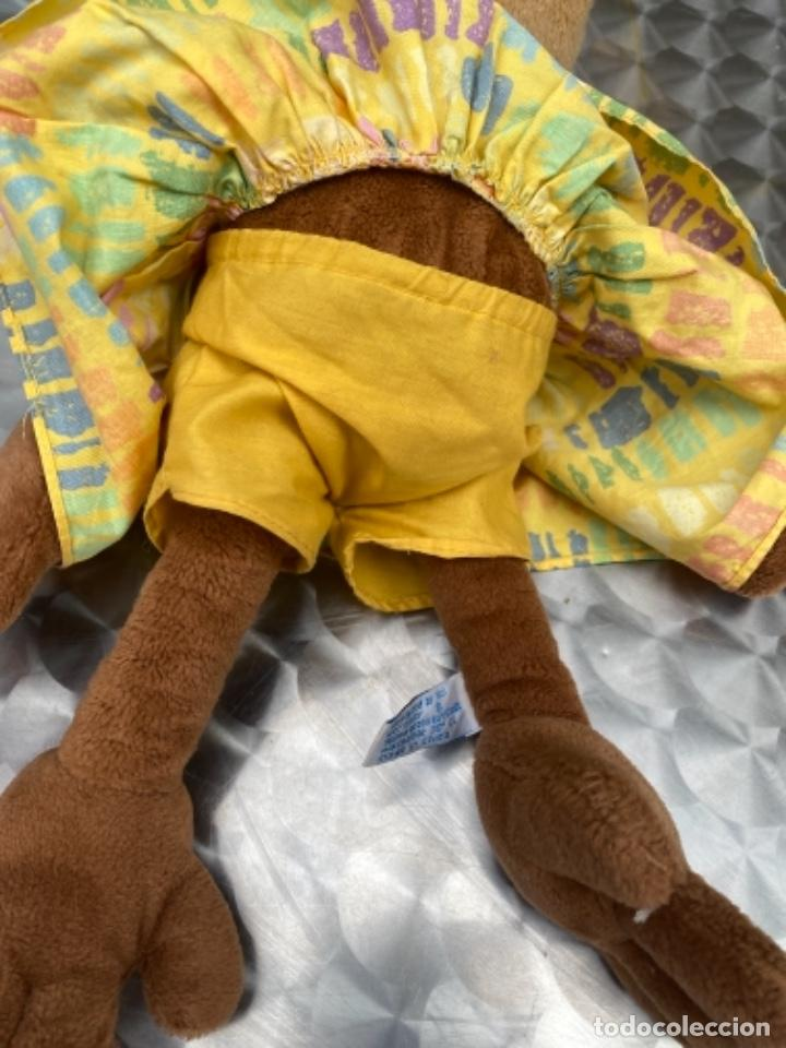 Juguetes Antiguos: Antiguo muñeco mono mona pañuelo en cabeza peluche television muñeco nici 40 cm - Foto 6 - 237834890
