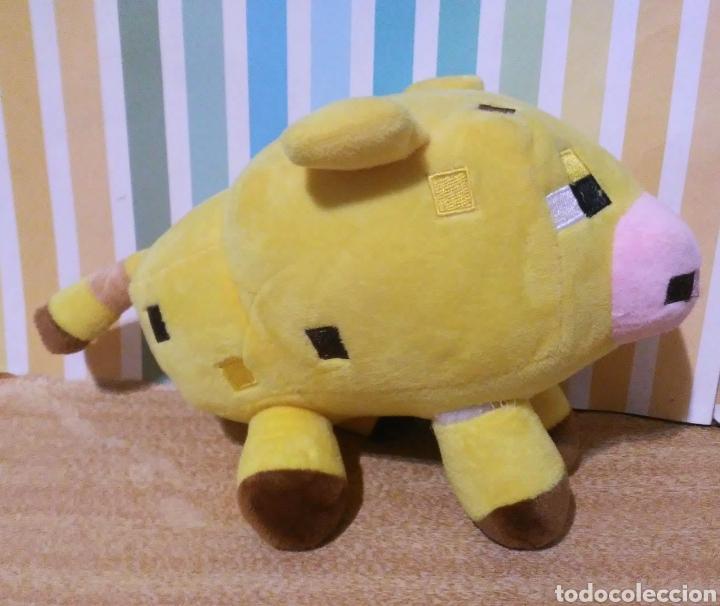 Juguetes Antiguos: peluche Cerdo amarillo minecraft mojang sin etiqueta - Foto 2 - 241301410