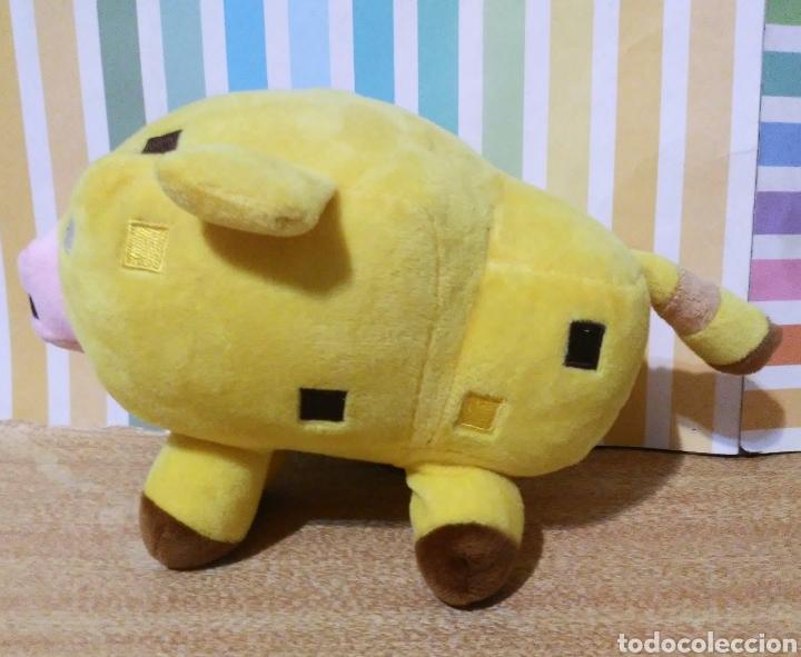 Juguetes Antiguos: peluche Cerdo amarillo minecraft mojang sin etiqueta - Foto 3 - 241301410