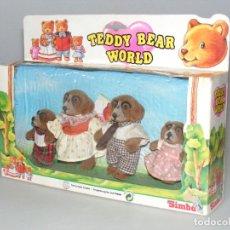 Jouets Anciens: TEDDY BEAR WORLD - FAMILIA BELLO - SIMBA - EN SU CAJA - NO JUGADO.. Lote 267343409