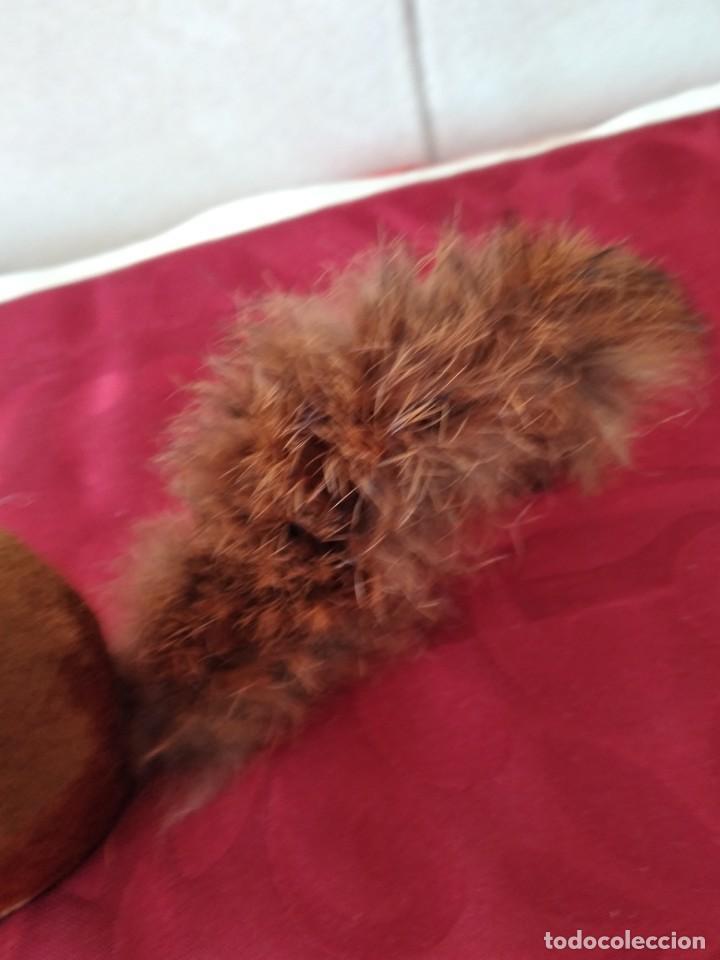 Juguetes Antiguos: Bonita artilla de pvc forrada con terciopelo ,cola de pelo de conejo real,años 50 - Foto 4 - 271327058