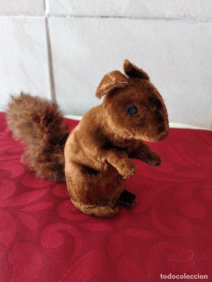 Juguetes Antiguos: Bonita artilla de pvc forrada con terciopelo ,cola de pelo de conejo real,años 50 - Foto 5 - 271327058