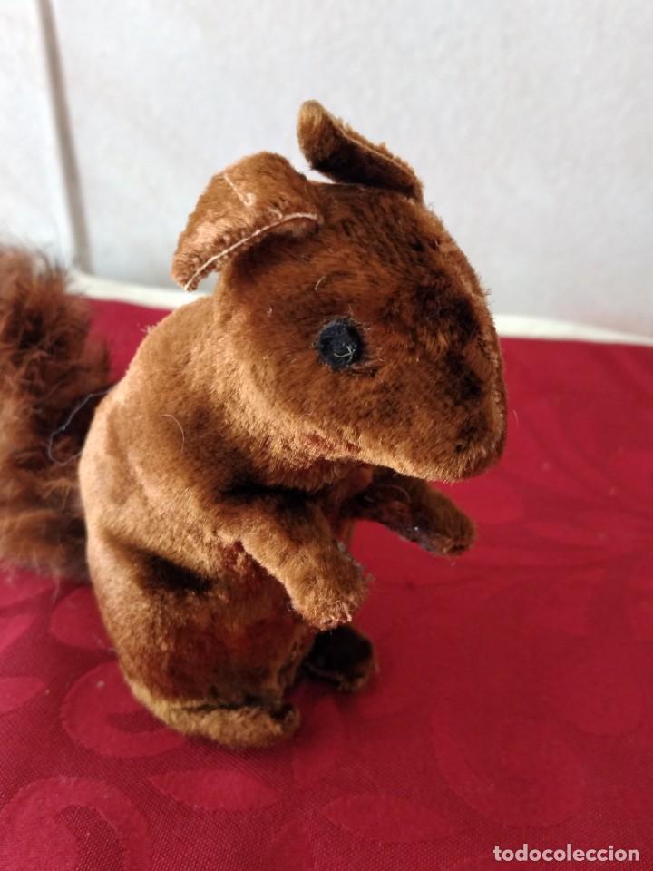 Juguetes Antiguos: Bonita artilla de pvc forrada con terciopelo ,cola de pelo de conejo real,años 50 - Foto 6 - 271327058