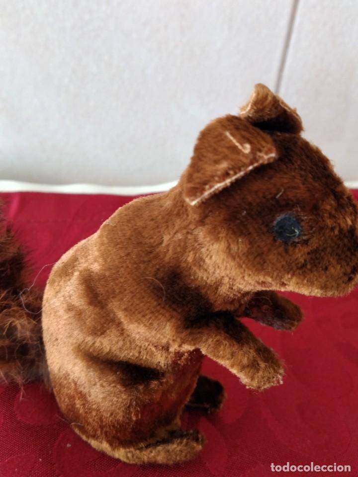 Juguetes Antiguos: Bonita artilla de pvc forrada con terciopelo ,cola de pelo de conejo real,años 50 - Foto 8 - 271327058