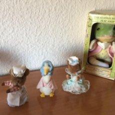 Brinquedos Antigos: LOTE DE 4 PELUCHES PERSONAJES DE BEATRIX POTTER: 1 MEDIANO 20CM + 3 MINI 10CM.. EDEN. A ESTRENAR. Lote 287339548