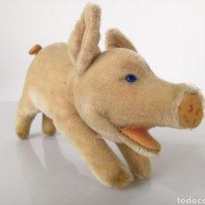 Juguetes Antiguos: STEIFF PELUCHE CERDITO - JOLANTHE PIG RUNNING 60S. Lote 290841398
